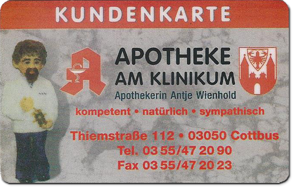 Kundenkarte Apotheke am Klinikum